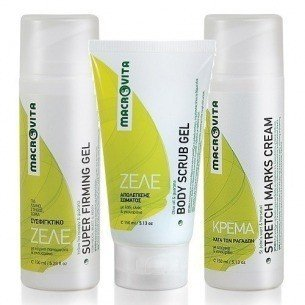 MACROVITA SET: BODY SCRUB GEL GUARANA 150ml + STRETCH MARKS CREAM 150ml + SUPER FIRMING GEL 150ml