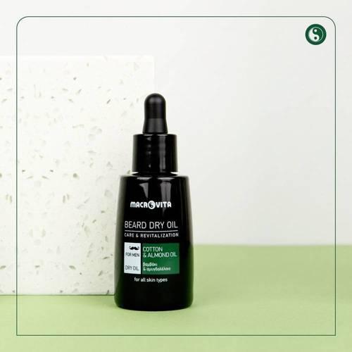 MACROVITA AFTER BEARD DRY OIL cotton & almond oil 30ml