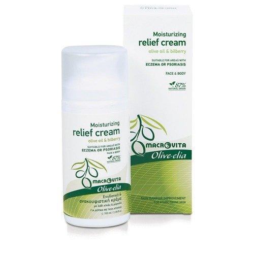 MACROVITA OLIVE-ELIA MOISTURIZING RELIEF CREAM olive oil & bilberry 100ml