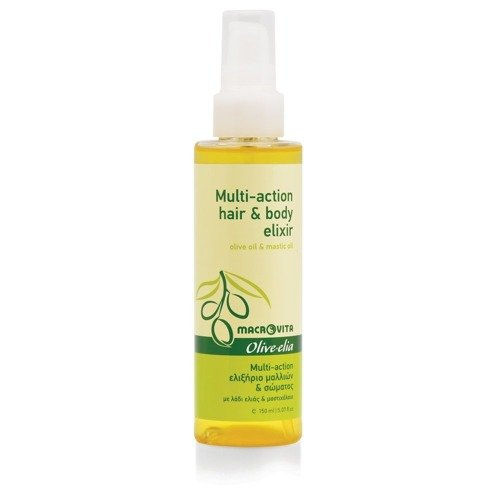 MACROVITA OLIVE-ELIA MULTI-ACTION HAIR & BODY ELIXIR olive oil & mastic oil 150ml