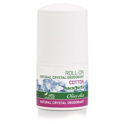 MACROVITA OLIVE-ELIA NATURAL CRYSTAL DEODORANT ROLL-ON COTTON 50ml