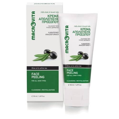 MACROVITA Gesichtsbehandlungpeeling mit Bio-Olivenöl und Bio-Aloe 50ml