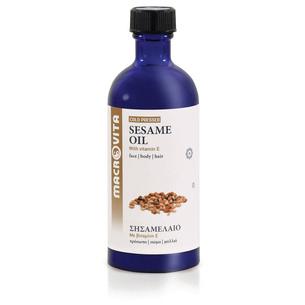 MACROVITA OLEJ SEZAMOWY w naturalnych olejach tłoczony na zimno z witaminą E 100ml