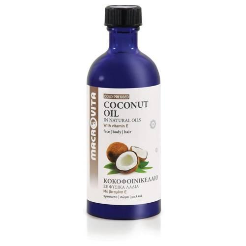 MACROVITA OLEJ KOKOSOWY w naturalnych olejach tłoczony na zimno z witaminą E 100ml