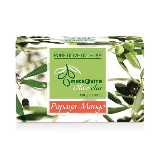 MACROVITA OLIVE-ELIA mydło z czystej oliwy z oliwek PAPAJA-MANGO 100g